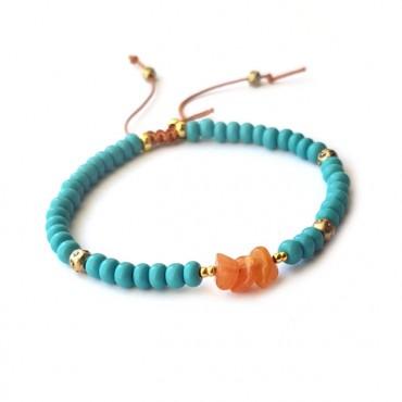 Armband | Rocaille | Aqua
