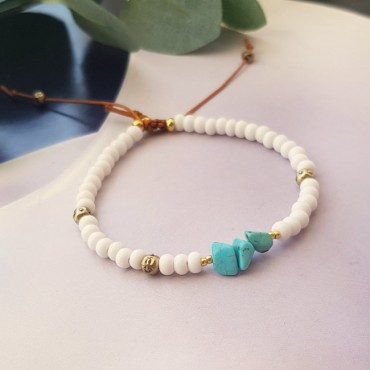 Armband | Rocaille | Wit