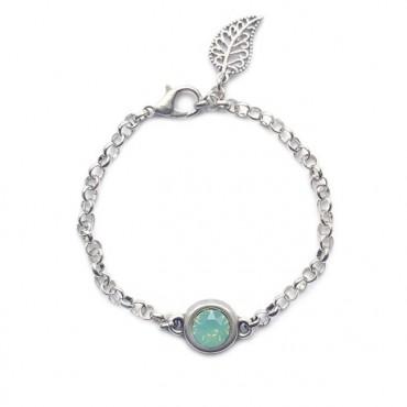 Armband | Jasseron | Swarovski | Zilver