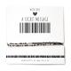Armband Barcode JOUW TEKST | Goud of Zilver