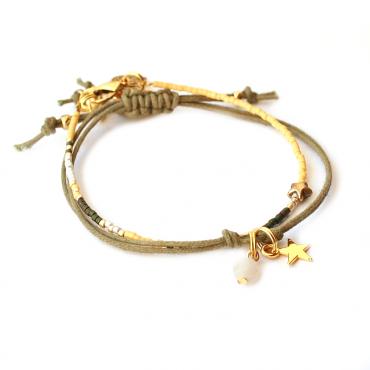 Armband T I N Y Miyuki Star Oker