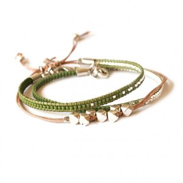 Armband Set Woven Treasure Miyuki Legergroen