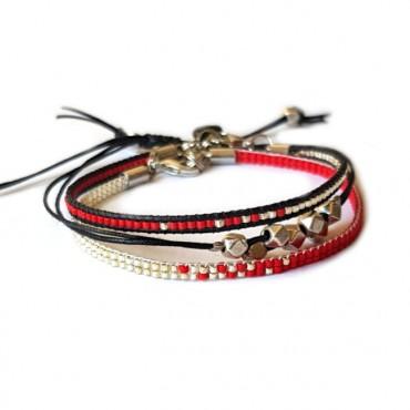 Armband Set Woven Treasure Miyuki rood