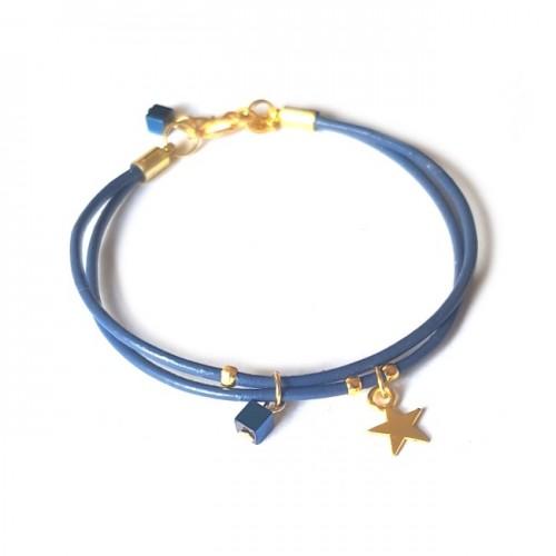Armband | Fine Leather | Star Blue