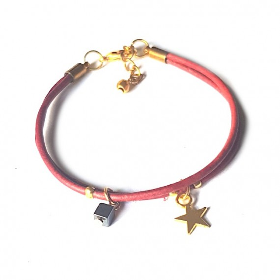 Armband | Fine Leather | Star Red