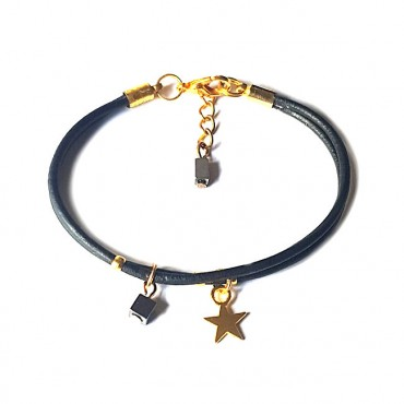 Armband | Fine Leather | Star Black