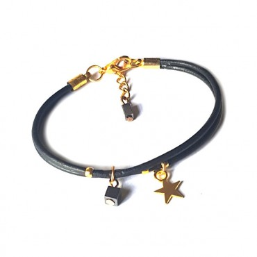 Armband | Fine Leather | Star Black