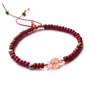 Armband | Rocaille | rood