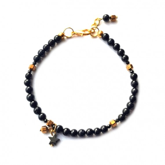 Armband Tiny Star Jade Gold-Filled