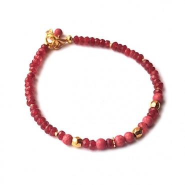 Armband | Jade Mix Rood
