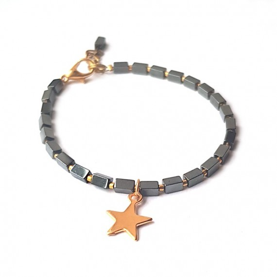 Armband | Hematite Star | Antraciet