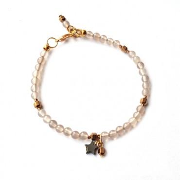 Armband Agaat & Hematiet Ster Goud