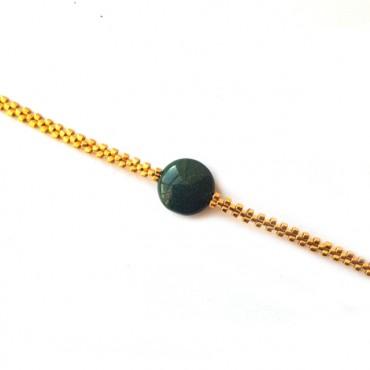 Armband L A C E  Jade Groen Zilver of Goud
