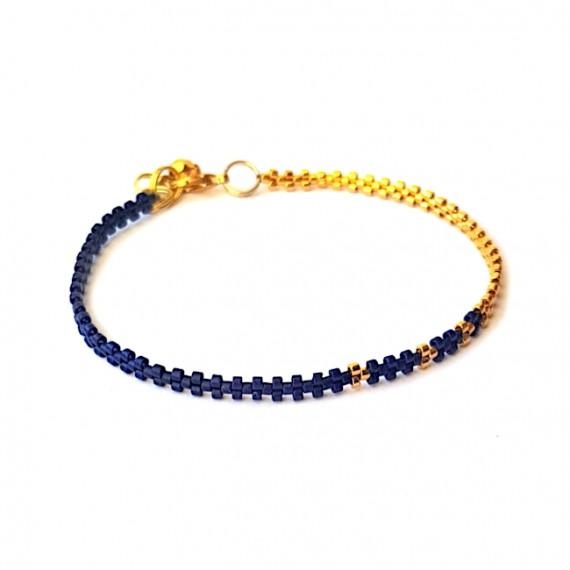 Armband L A C E Blauw Zilver/Goud