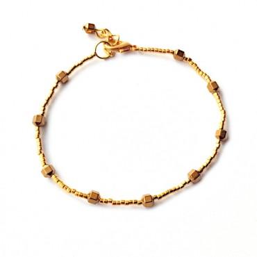 Armband FINE Miyuki Hematiet Goud