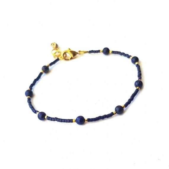 Armband FINE Miyuki Lapis Lazuli