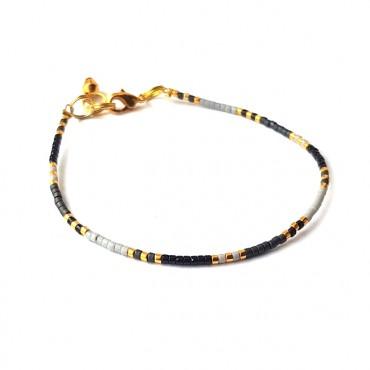 Armband | T I N Y |  Zwart-Grijs