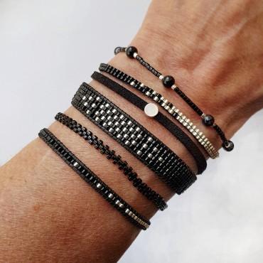 Armband L A C E Zwart