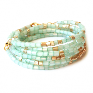 Wikkelarmband TREASURE TWO aqua