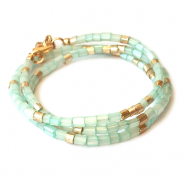 Wikkelarmband TREASURE ONE aqua