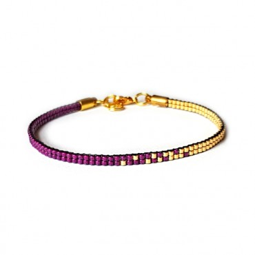 Armband Woven Treasure Double Fuchsia