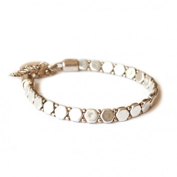 Armband Woven Treasure Honeycomb Zilver