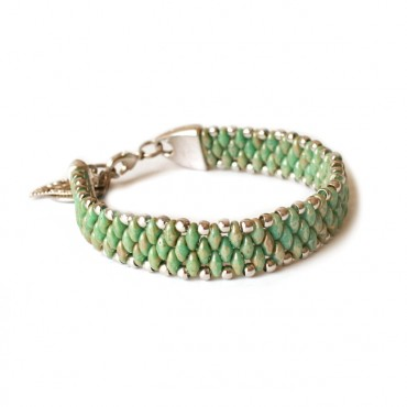 Armband Woven Treasure Green Picasso