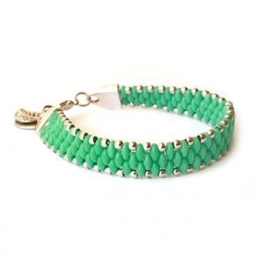 Armband Set WOVEN TREASURES Groen Turkoois