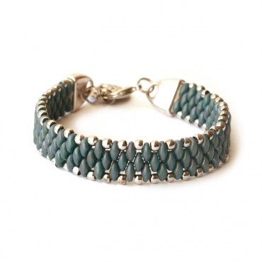 Armband Woven Treasure Mat Blauw