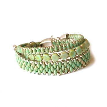 Armband Set WOVEN TREASURES Green Picasso