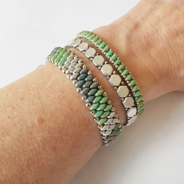 Armband Set WOVEN TREASURES Stripes