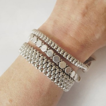 Armband Set WOVEN TREASURES Zilver