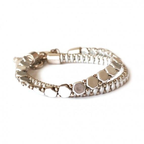 Armband Woven Treasures Set Zilver