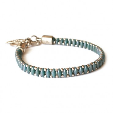 Armband Woven Treasure  Small Mat Blauw