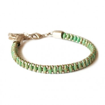 Armband Woven Treasure  Small Green Picasso
