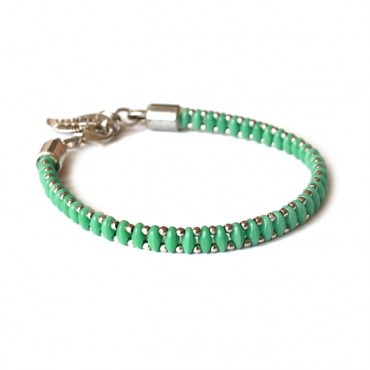 Armband Woven Treasure  Small Groen Turkoois