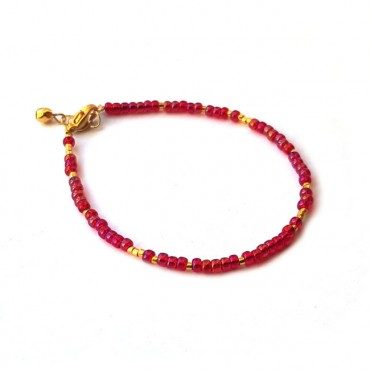 Armband | FINE | rocaille | rood