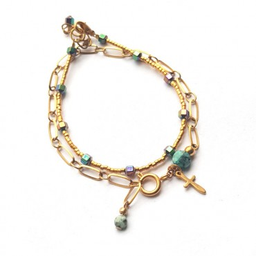 Armband | Combi | Natuursteen & Hematiet