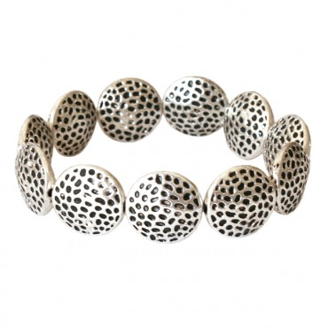Armband metaal DARE! A53, dotted