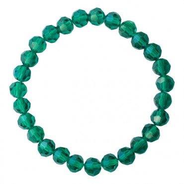 Armband basic facet elastic emerald