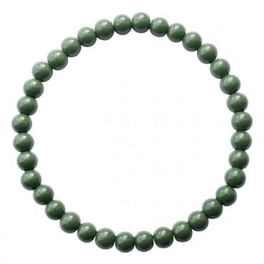 Armband | MIXIT | elastic donkergroen