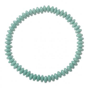 Armband Basic Glas Ufo grijsgroen