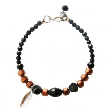 Armband basic facet feather