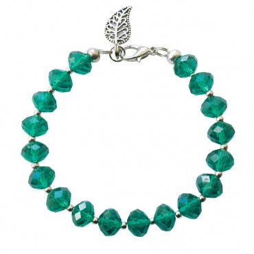 Armband basic facet XL emerald