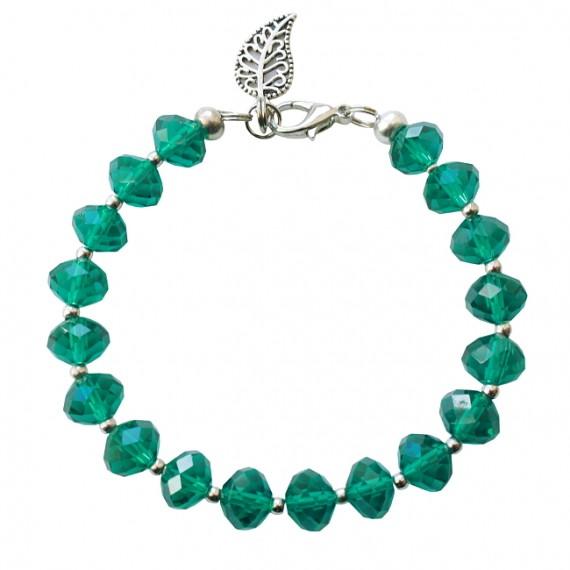 Armband basic facet XL emerald
