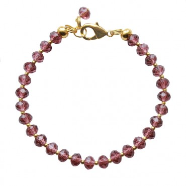 Armband basic facet small bordeaux