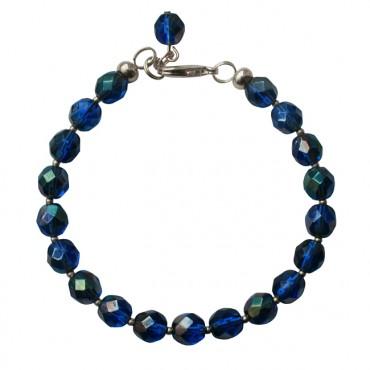 Armband basic facet shiny elastic donkerblauw