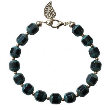Armband basic facet donkerblauw