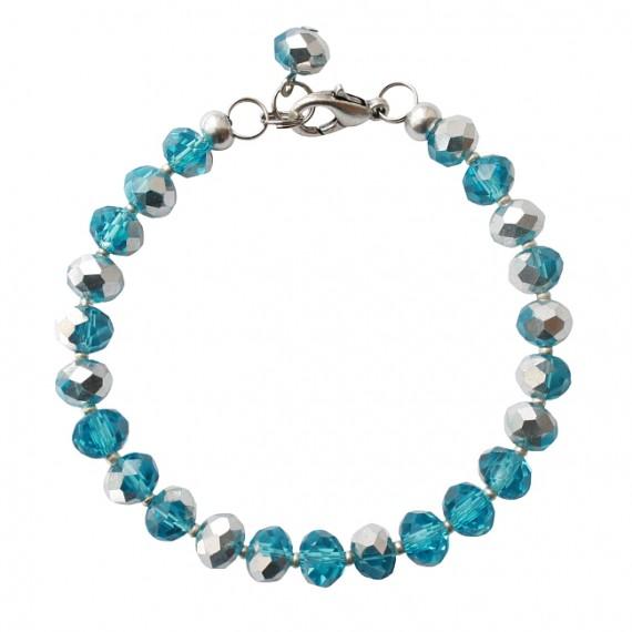 Armband basic facet shiny blue