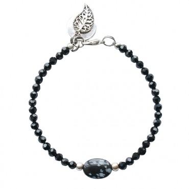 Armband basic oval stone
